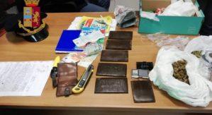 Oltre mezzo kg di marijuana nascosta in casa, 34enne arrestato