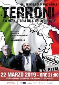 """Venerdì 22 marzo al Teatro di Soverato in scena """"Terroni, la vera storia dell'Unità d'Italia"""""""