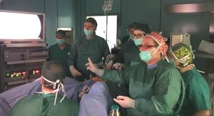 """Eseguite due Isterectomie laparoscopiche con """"tecnica a quattro mani"""""""
