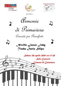 Armonie di Primavera, due grandi pianisti suoneranno al Comune di Catanzaro