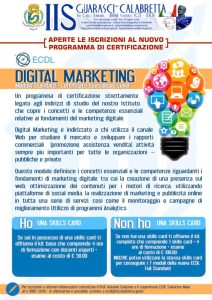 """ECDL Digital Marketing: percorso di certificazione aperto a tutti targato IIS """"Guarasci-Calabretta"""" di Soverato"""