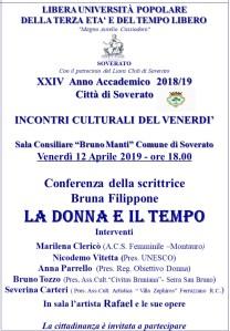 """Soverato – Venerdì 12 Aprile la conferenza """"La donna e il tempo"""""""