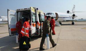 Bimba di 2 anni in pericolo di vita trasferita a Napoli con volo sanitario urgente