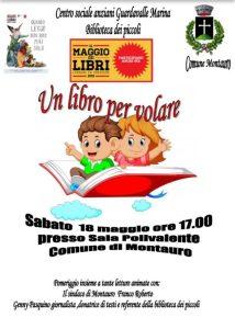 """Sabato 18 Maggio a Montauro l'iniziativa """"Un libro per volare"""""""