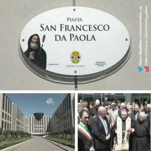 Catanzaro, intitolata a San Francesco di Paola la piazza della Cittadella regionale