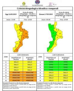 """Maltempo – Diramata l'allerta meteo """"Arancione"""" per la Calabria Jonica"""