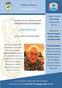 Cittadinanza onoraria di Soverato al poeta Ottavio Rossani