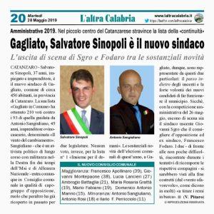 Gagliato, Salvatore Sinopoli è il nuovo sindaco