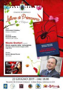 """Girifalco – Sabato 22 giugno l'ultimo appuntamento """"Letture di Primavera"""" con Nicola Gratteri"""