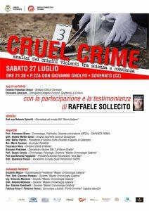 """Sabato 27 Luglio """"Estate Crime"""" a Soverato con Raffaele Sollecito"""