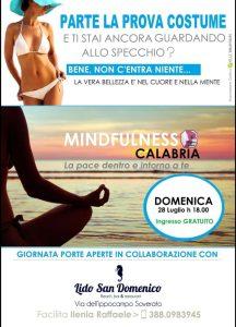 Domenica 28 Luglio conoscere la Mindfulness al Lido San Domenico di Soverato