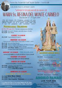 Guardavalle – Solenni festeggiamenti in onore di Maria Ss. Regina del Monte Carmelo