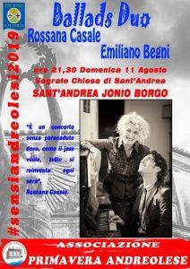 S. Andrea Jonio – Domenica 11 Agosto Rossana Casale in concerto