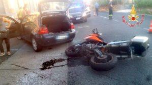 Scontro tra auto e moto sulla Statale 106 a Badolato, un ferito