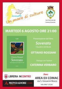 Soverato – Domani presentazione del nuovo libro di poesie di Ottavio Rossani