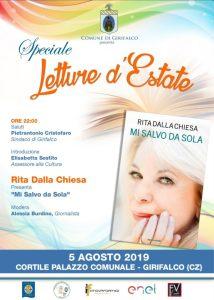 """A Girifalco """"Letture d'Estate"""" con Rita Dalla Chiesa"""
