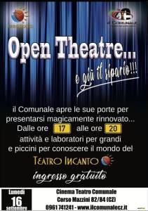 """Il Comunale di Catanzaro presenta """"Open Theatre"""""""