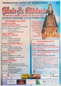 Soverato Superiore – Festa della Maria Ss. Addolorata, programma completo