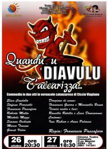 """Sabato 26 ottobre al Teatro Comunale di Catanzaro in scena """"Quandi u diavulu t'accarizza"""""""