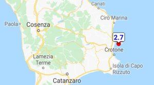 Scossa di terremoto nella notte sulla costa jonica calabrese