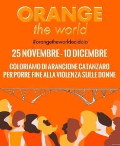 """Anche Catanzaro aderisce alla campagna """"Orange the World"""""""