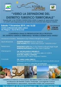 Sabato 7 dicembre la presentazione ufficiale del Distretto Turistico Territoriale