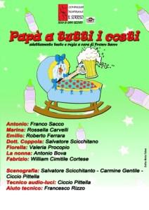 """Teatro Chiaravalle – Domenica 15 dicembre in scena """"Papà a tutti i costi"""""""