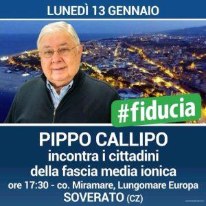 Soverato – Lunedì 13 Gennaio incontro con Pippo Callipo