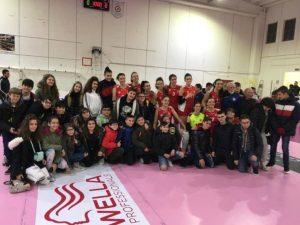 La scuola media IC Manzoni di Catanzaro ospite del Volley Soverato