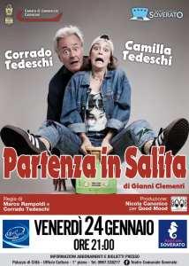 """Teatro Soverato – Venerdì 24 gennaio in scena """"Partenza in Salita"""""""