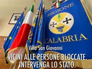 """""""La Calabria non può farsi carico delle persone bloccate a Villa San Giovanni"""""""