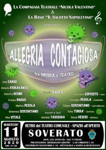 """Soverato – Martedì 11 Agosto lo spettacolo """"Allegria contagiosa"""""""