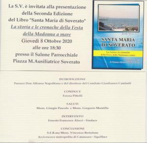 """Giovedì 8 Ottobre la presentazione del libro """"Santa Maria di Soverato"""""""