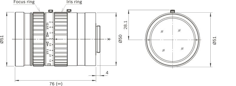 Bosch LFF-8012C-D75 Ultra Megapixel Lens