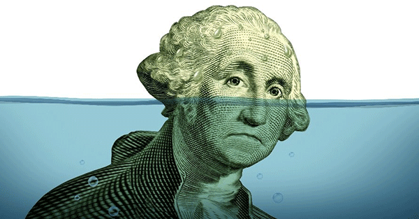 Here's Some Frightening Honesty, Courtesy of the US Congress Sinking-dollar-debt