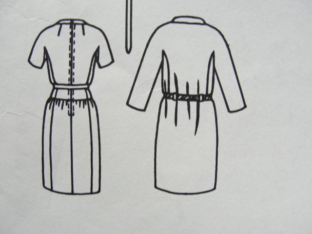1960s LAROCHE Slim Dress and Coat Pattern VOGUE PARIS