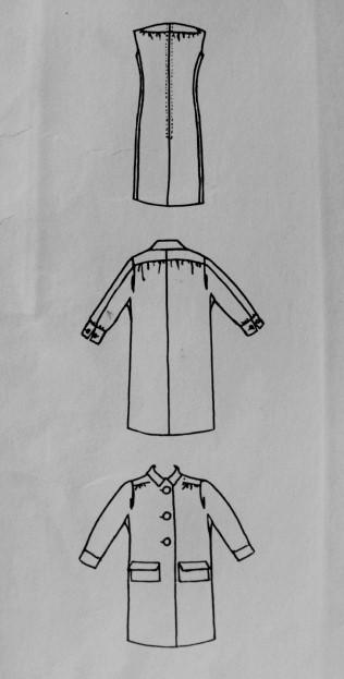 1960s Mod Federico Forquet Fab Coat and Dress Pattern