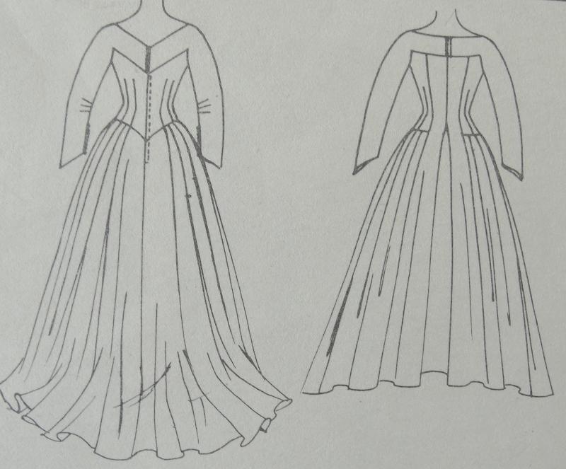 1950s DREAMY WEDDING GOWN BRIDAL DRESS PATTERN McCALLS