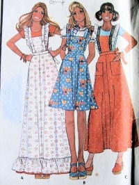 1970s PINAFORE APRONS PATTERN PRETTY STYLES McCALLS ...