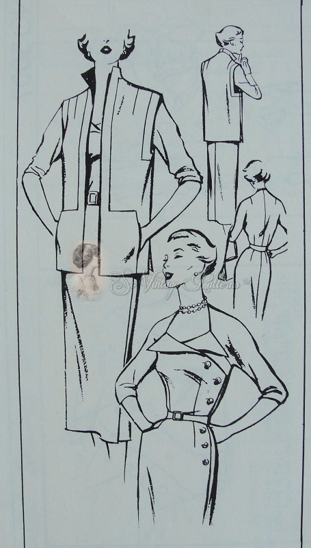 Rare 1950s Slim Wrap Dress and Jacket Pattern Womans Day