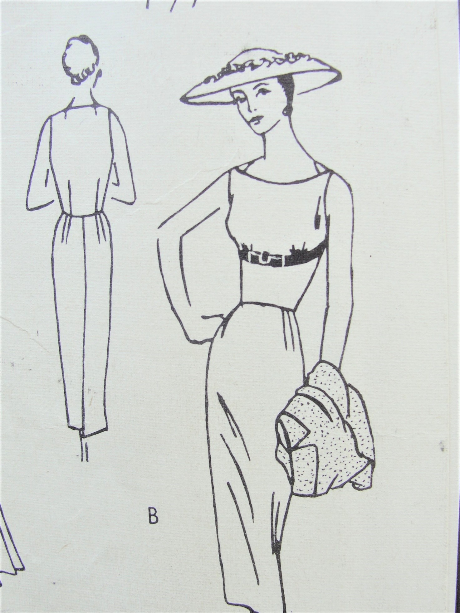 50s LOVELY Evening Party Dress Jacket Pattern VOGUE