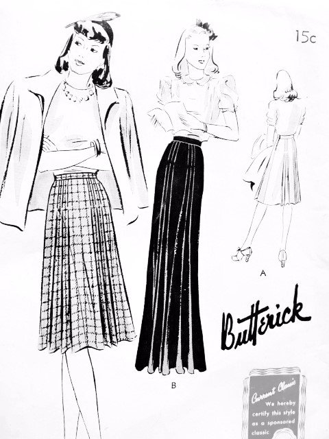 1940s Day or Evening Skirt Pattern BUTTERICK 9311 Fabulous