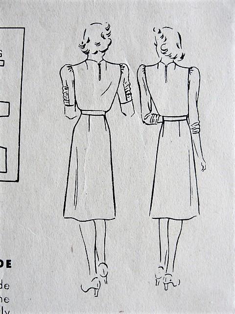 1940s BEAUTIFUL Side Cascade Dress Pattern HOLLYWOOD 511