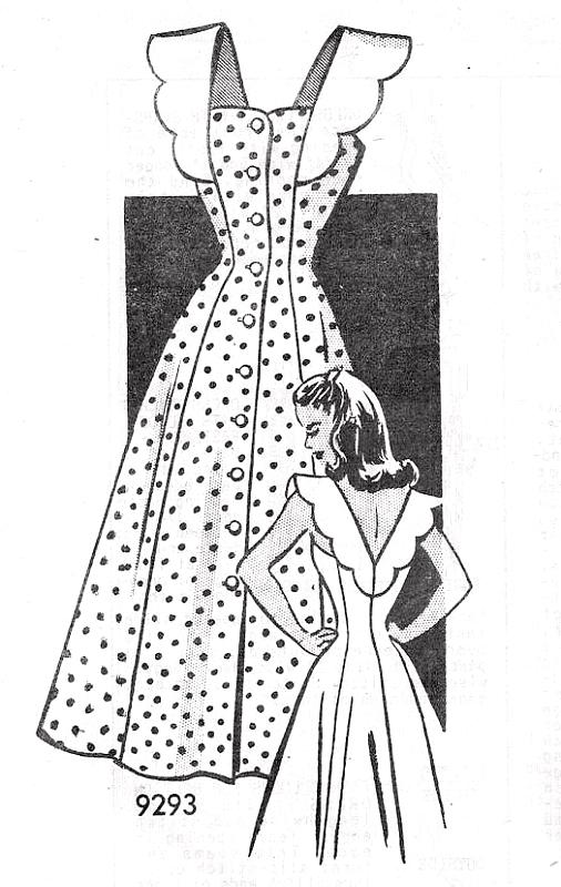 1940s BEAUTIFUL Sun Dress Pattern MARIAN MARTIN 9293