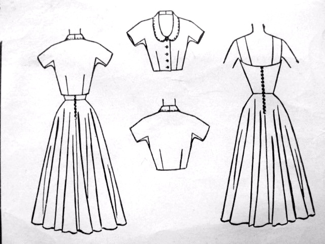 1950s RARE Dress and Jacket Pattern McCALLS 9256