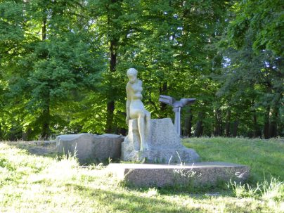 A parc full of hundreds of statues...