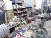 A wood workshop