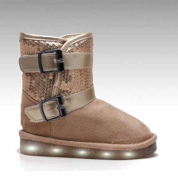 صور تصميمات أحذية الأطفال الشتاء جامدة