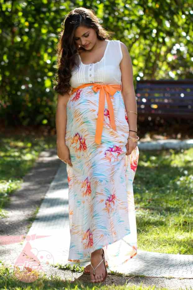 صور تصميمات ملابس وأزياء الحوامل للصيف متنوعة
