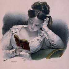 web site woman reading a book